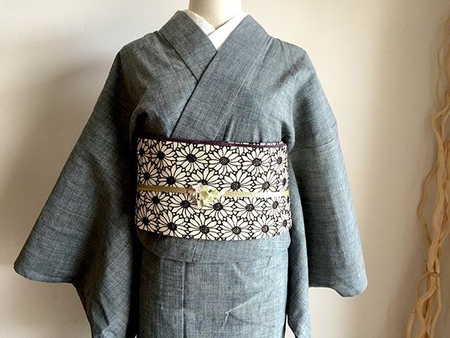 オーガニックデニム着物「禅zen藍染」