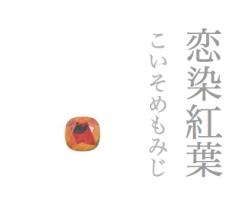 スワロフスキーの帯留め-恋染め紅葉
