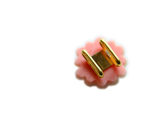 帯留めブローチ「梅パール」