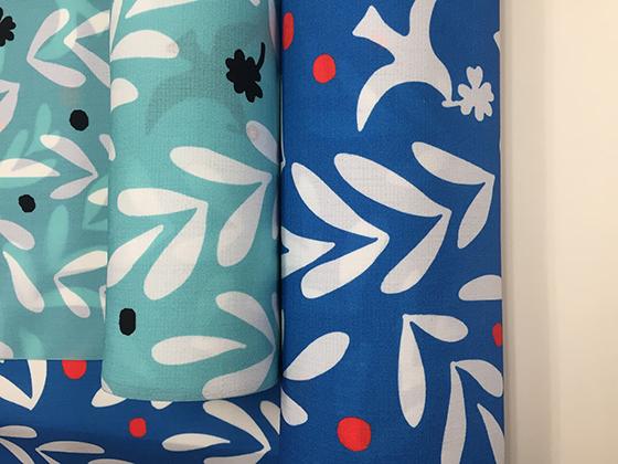 単衣キモノ浴衣「しあわせの青い鳥」